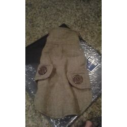 American Kennel Club Dogs Brown Tweed Pea Coat - X- small 11'' - 13''