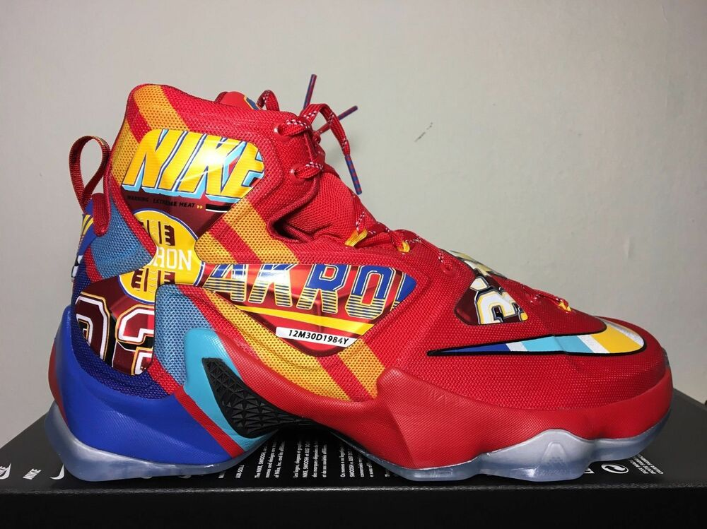 8d3608ada25 Details about Nike LeBron 13 XIII Promo Sample EYBL PE Size 12.5.  843801-696 Kyrie Cavs MVP