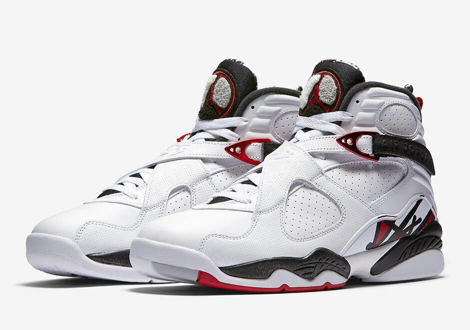 8029dc9085c 2017 Nike Air Jordan 8 VIII Alternate Hare White Black Red Size 9.5.  305381-104 | eBay