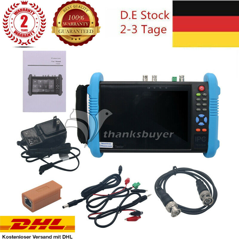 Ipc9800 Plus Adhs 7 Ip Cctv Tester Camera Monitor H265 4k Video Low Resistance Connection Testercan Be Used As Cable Or Wire Test Eu Ebay