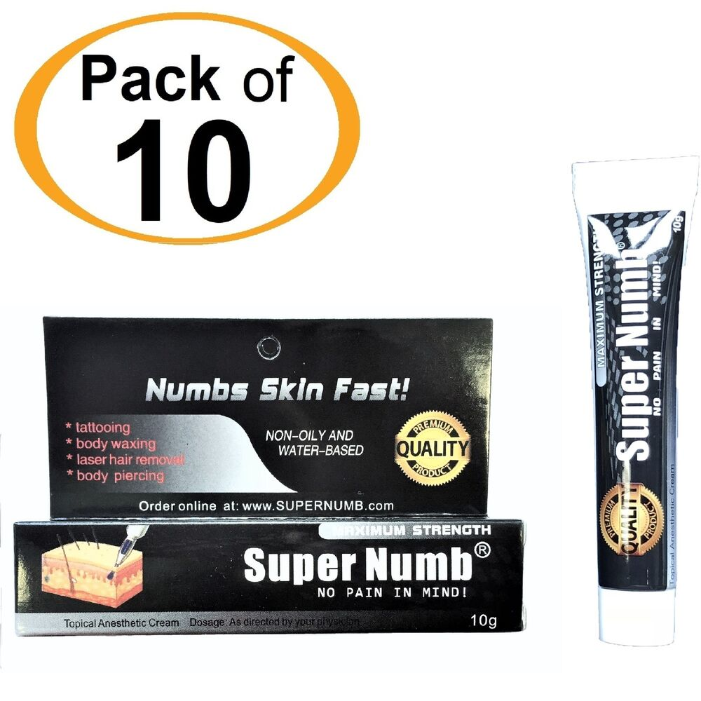 10g x 10Tube SUPER NUMB Numbing Cream Anesthetic Tattoo Piercing ...