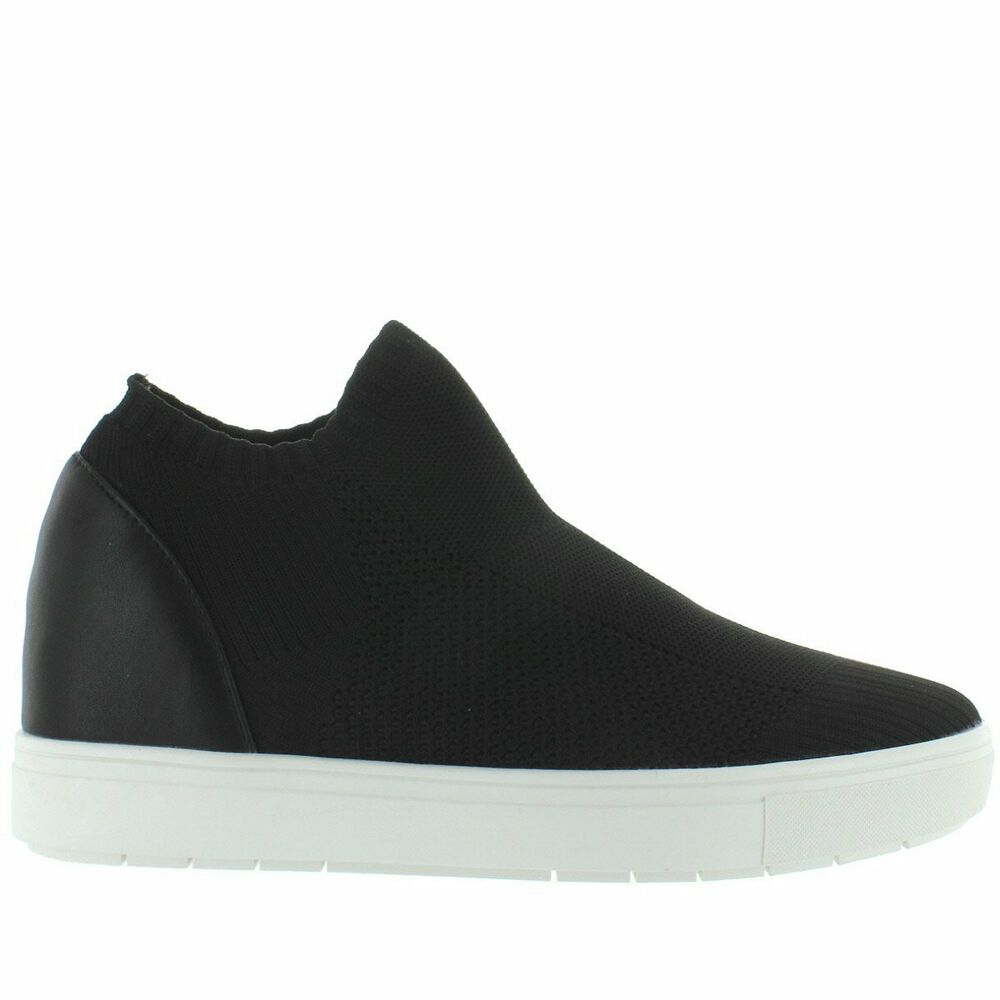 530e0ab0772 Details about steve madden black stretch knit slip on platform wedge sneaker  jpg 1000x1000 Steve madden