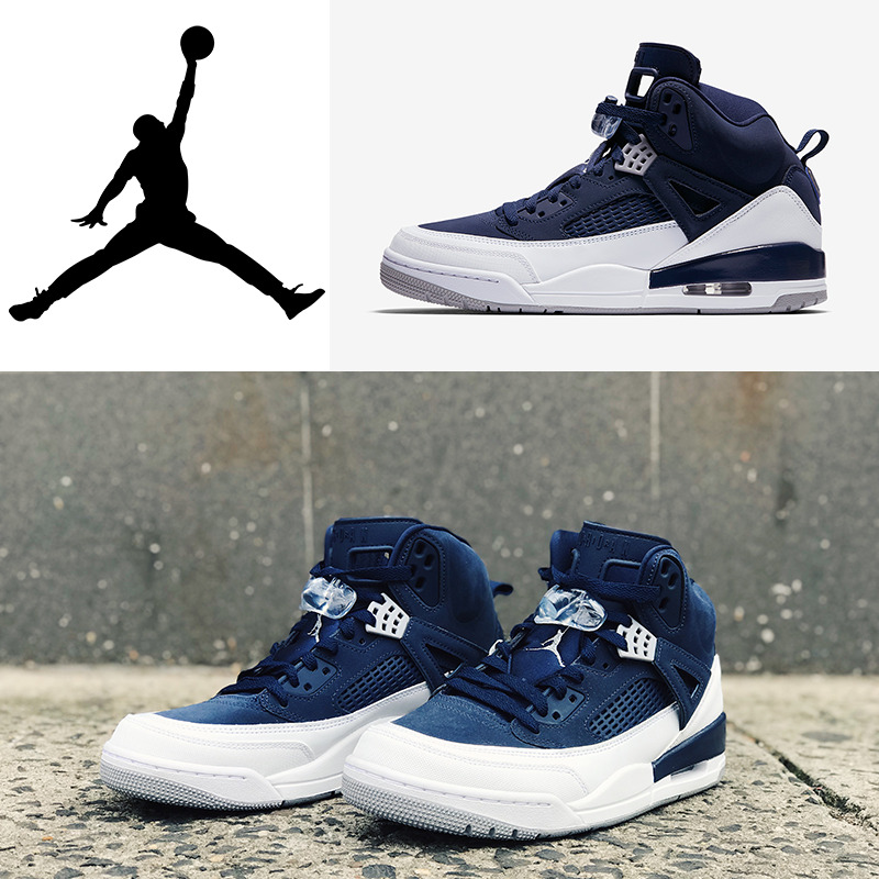 c90d41c9ddb3b5 Details about AIR JORDAN SPIZIKE WHITE NAVY MENS 315371-406 100%AUTHENTIC