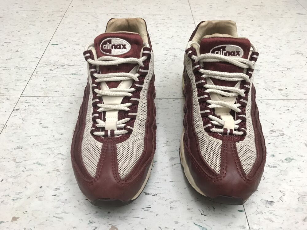 VERY RARE 2004  WOMENS NIKE AIR MAX 95 REDWOOD SAIL 698014-611 US SIZE 7