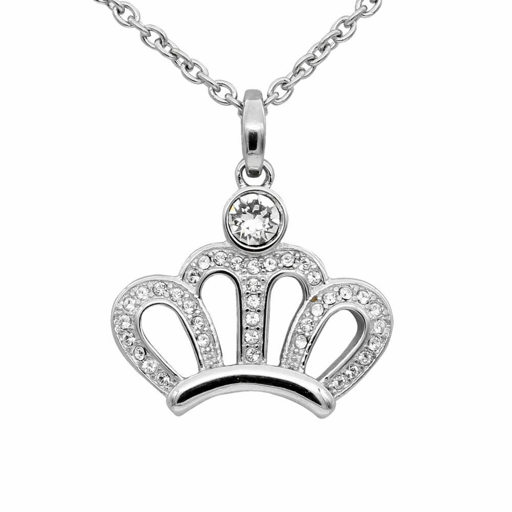 a71e98cf9 Details about Princess Crown Pendant Necklace with 39 Swarovski Crystals  Jewelry By Controse