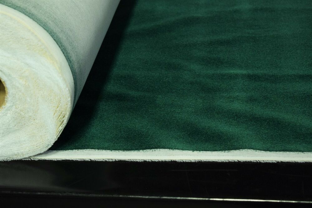 Emerald Green Flocked Velvet Upholstery Sueded Fabric 56 Wide Soft