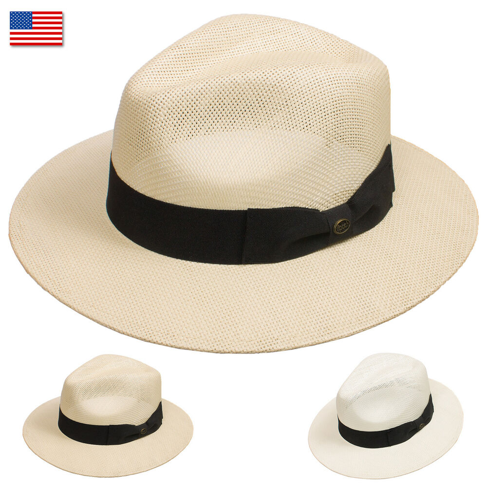 EDRY77 EpochLine Summer Cool Outback Panama Wide Large Brim Fedora Straw  Hat Sun  e0a27889791