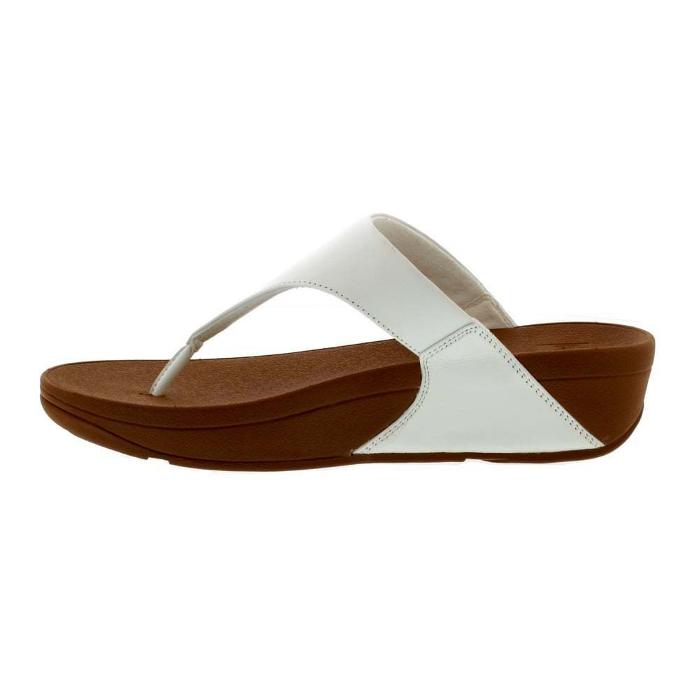 02557828d06c7e Details about Fitflop Lulu Toe Thong White Women s Leather Sandal I88-194