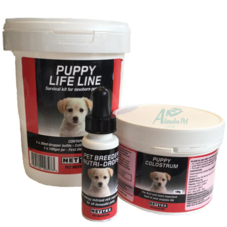 img-Nettex Life line Survival Kit For Newborn Pups Pet Breeder Drops Puppy Colostrum