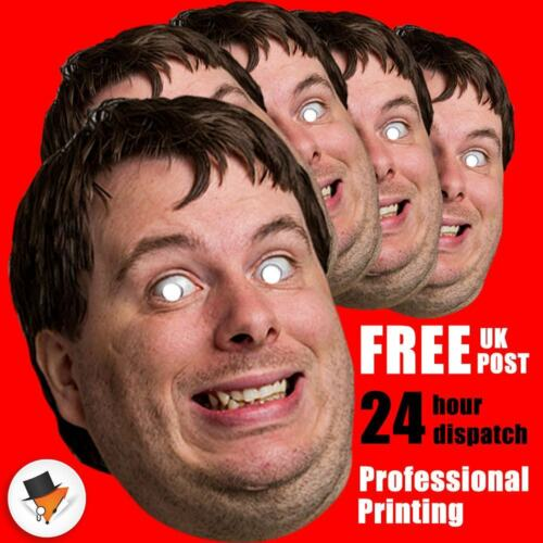 15 PERSONALISED PHOTO FACE MASK KITS FOR STAG & HEN NIGHT BIRTHDAY PARTY !