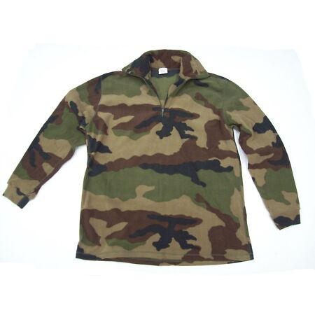 img-NEW - French Military Issue Camo Fleece Thermal Undershirt - 112cm (44