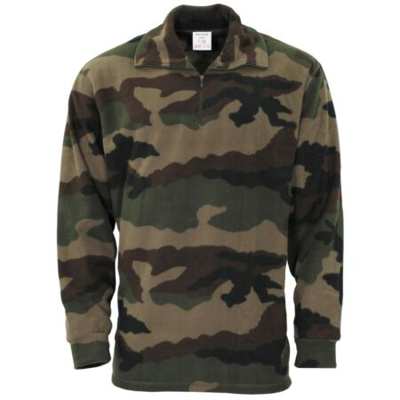 img-NEW - French Military Issue Camo Fleece Thermal Undershirt - 120cm (46