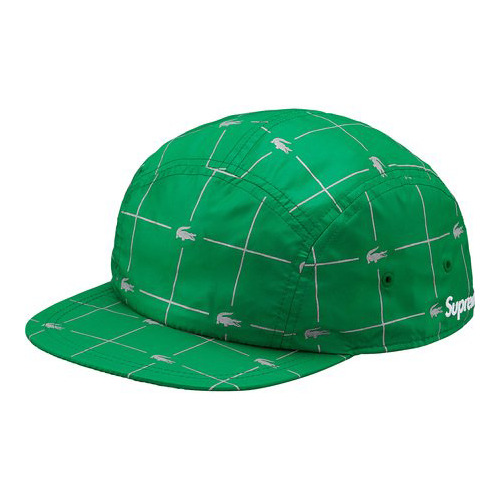 Details about SUPREME x LACOSTE REFLECTIVE GRID NYLON CAMP CAP - S S 2018 -  100% AUTHENTIC 97bbaabc02b