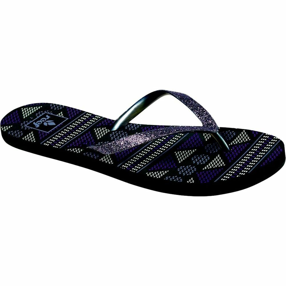 869dac4caca Details about Woman Reef Star Stargazer Prints Flip Flops RF1604 Grey Trib  100% Original NEW
