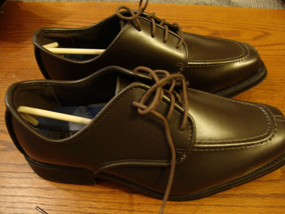 Stanford Formal Dress Shoes Brown Size 9.5W #0288 Lace Up.. NWB           821