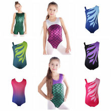 Kids Girls Gymnastics Leotards Ballet Dancewear Bodysuits Skating Costumes US