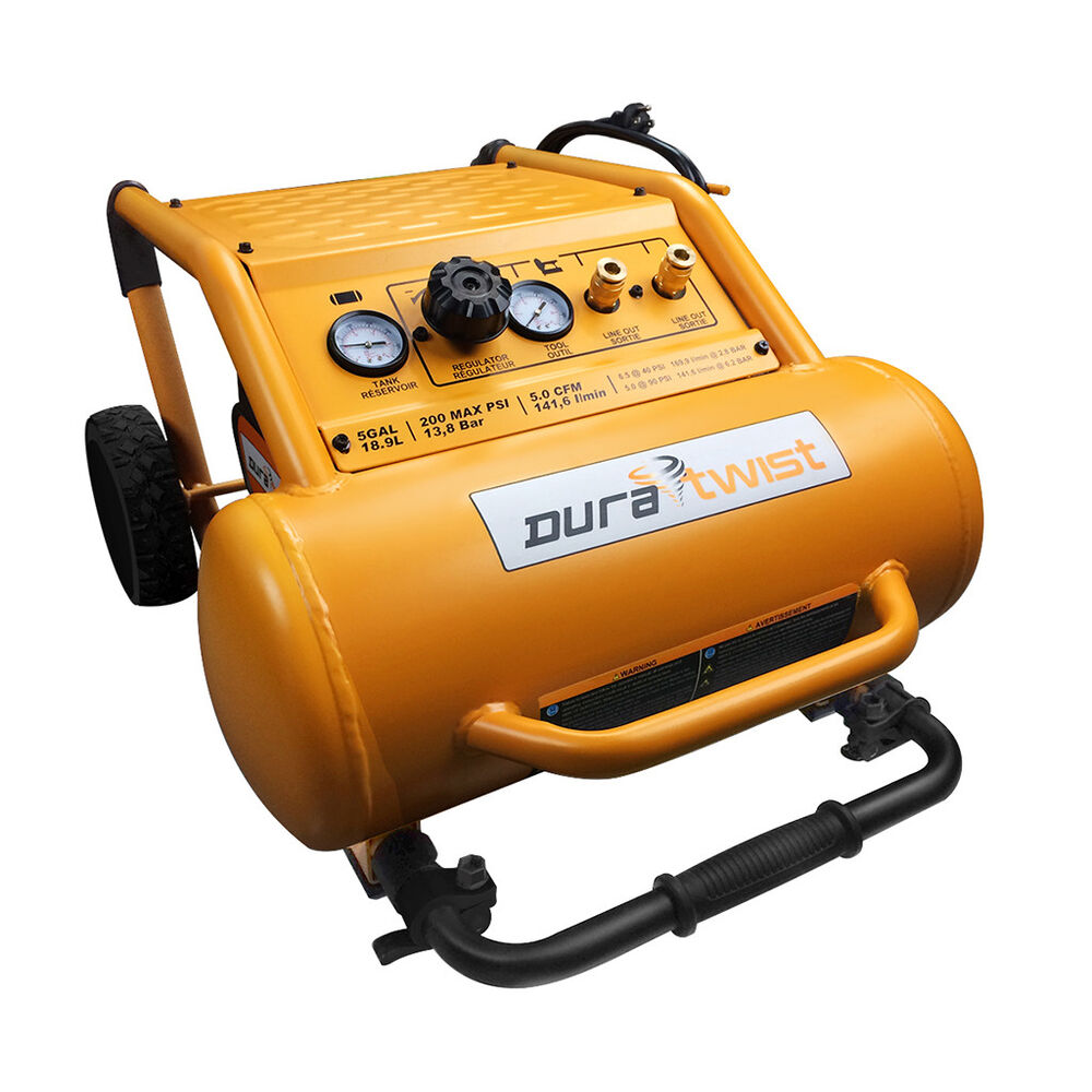 Duratwist 26506 5 Gallon 2 Hp Quiet Air Compressor Ebay