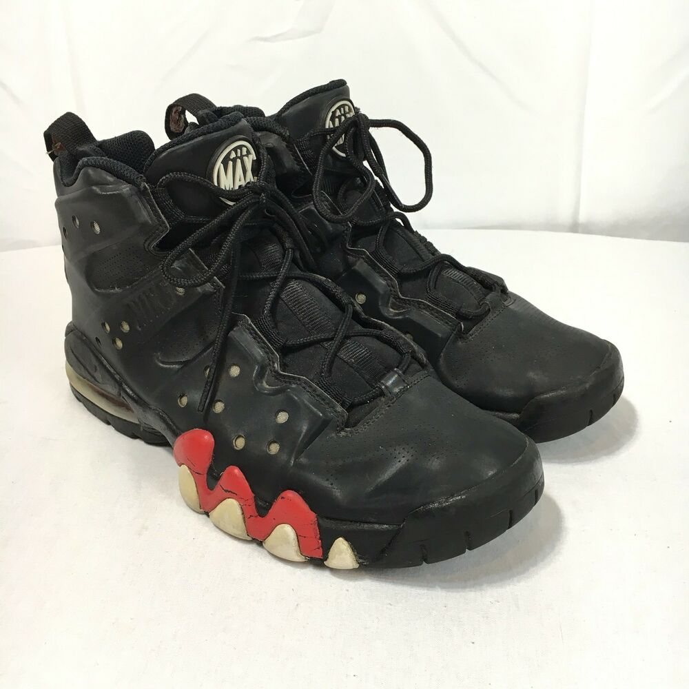 official photos bcc91 a83f0 Details about Nike Air Max 34 Barkley Hyperfuse Men s 9 Red Black  Basketball Sneakers Shoes