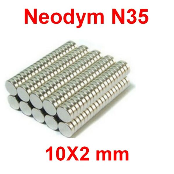 Aimants Néodyme 10X2mm ultra puissant N35 :Photo,Magnet,Fimo,Scrapbooking...