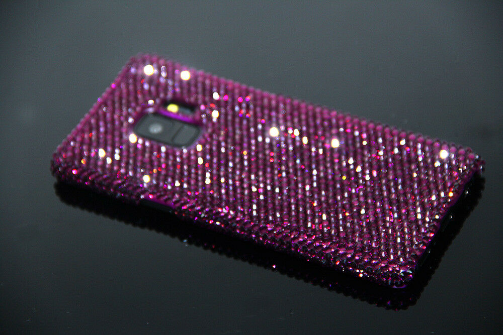 Bling Purple Diamond Case Cover For Samsung Galaxy S9 Plus W H SWAROVSKI  ELEMENT  4634d3a54a