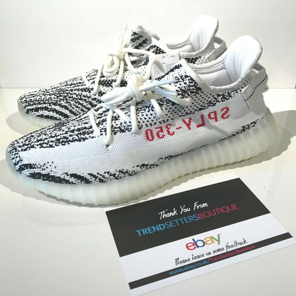 577103e936e83 Details about ADIDAS YEEZY 350 V2 BOOST WHITE ZEBRA UK US 6 7 8 9 10 11 12  .5 BLACK RED CP9654