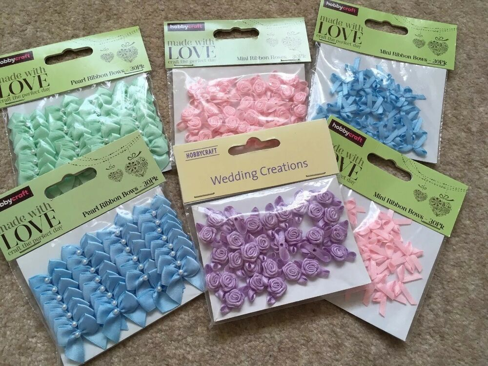 Hobby Craft Wedding Table Decorations 30 Pack Of Ribbobs Bows