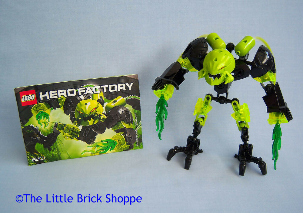 Rare Lego Hero Factory 6201 Toxic Reapa Complete Figure With