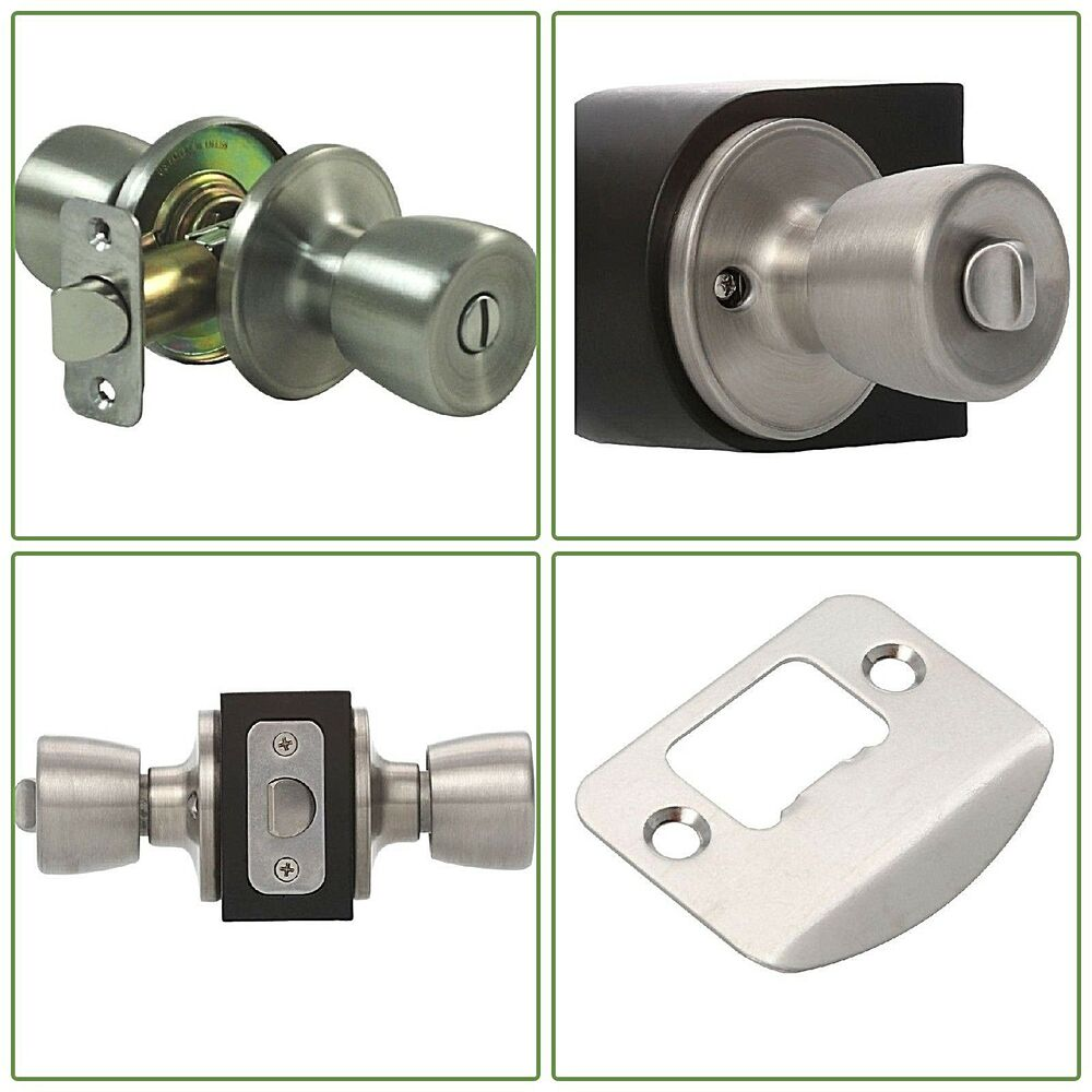 Details About Privacy Door Stainless Steel Handle Bedroom Bathroom Round Lock Hardware
