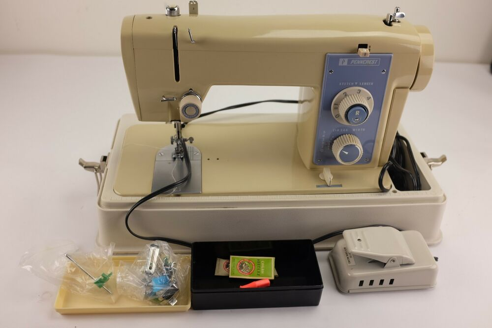 Vintage Penncrest Sewing Machine Model 40 With Case And Pedal EBay Enchanting Singer Sewing Machine 2200 Series