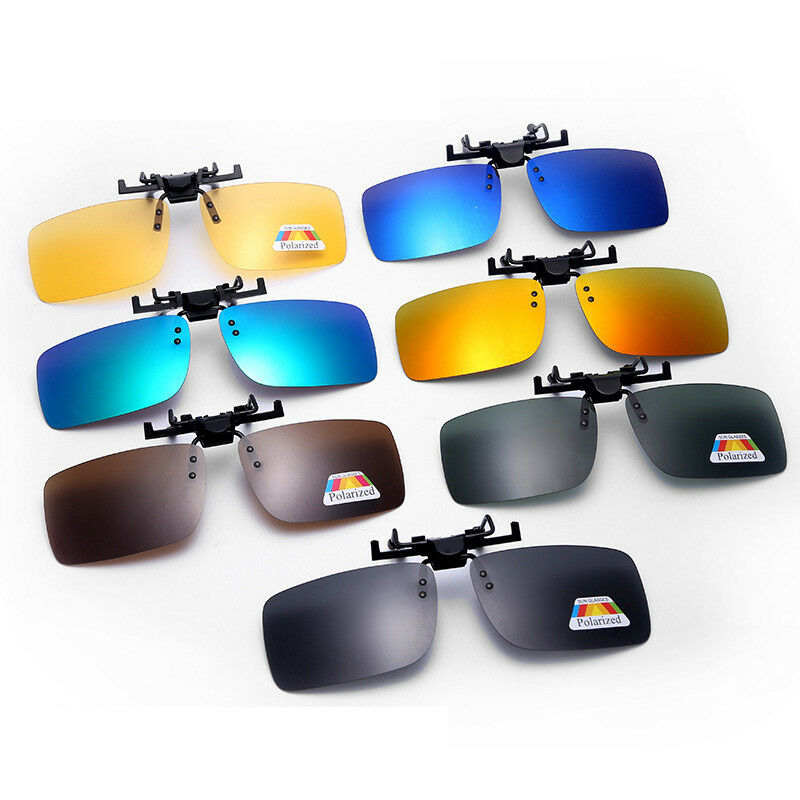 6c989ddf973 Details about Polarized Sunglasses Clip On Driving Glasses Day Night Vision  Lens UV400