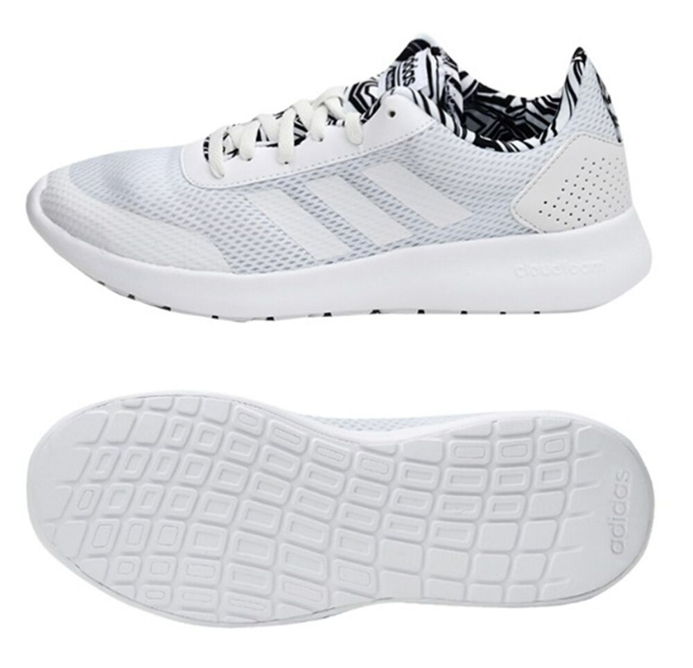 10d891fe4b23 Details about Adidas Women CF Element Race Training Shoes Running White  Yoga Sneakers DB1796