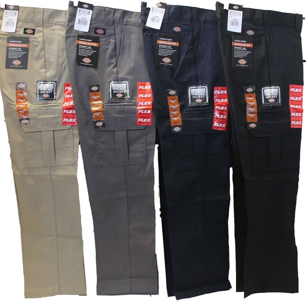 Mens DICKIES Flex WP595 Regular Fit Straight Leg Work ...