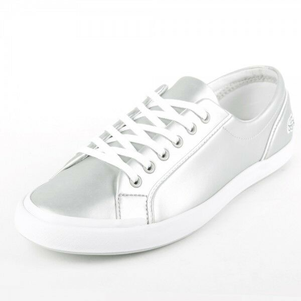 f223b341ba3a Details about Lacoste Womens Lancelle 6 Eye 117 2 CAW Light Grey Trainers  Casual SHOES