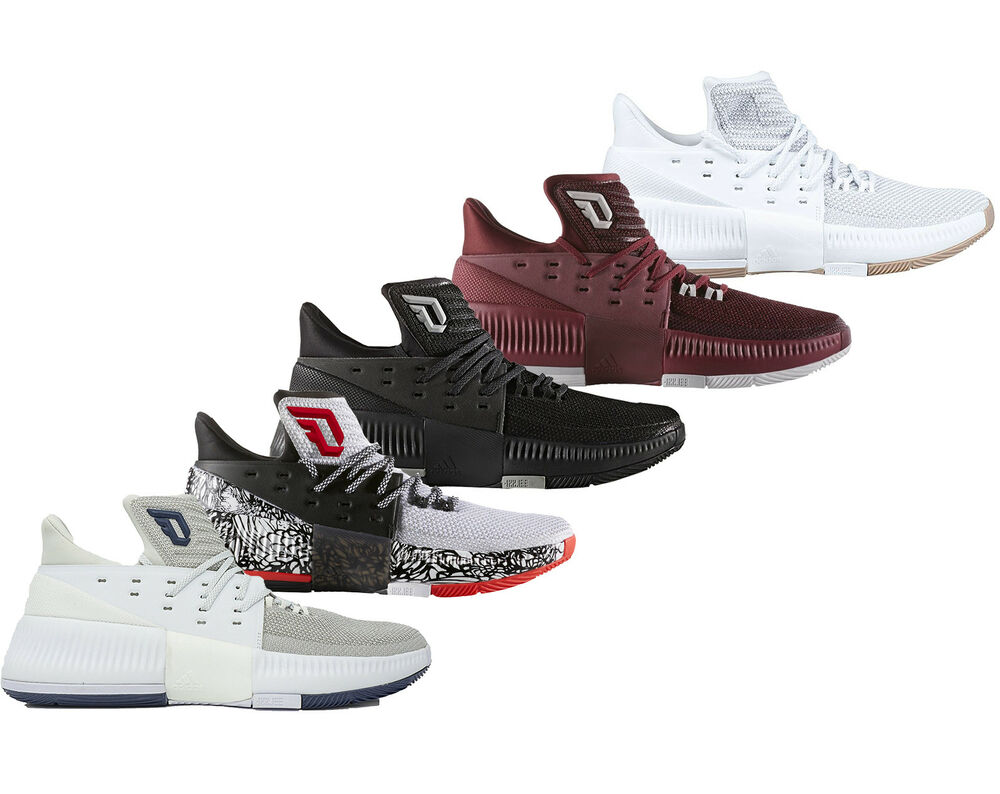 hot sale online 1a999 54803 Details about Adidas Dame 3 D Lillard 3 Basketball Shoes Athletic Sneakers  NEW