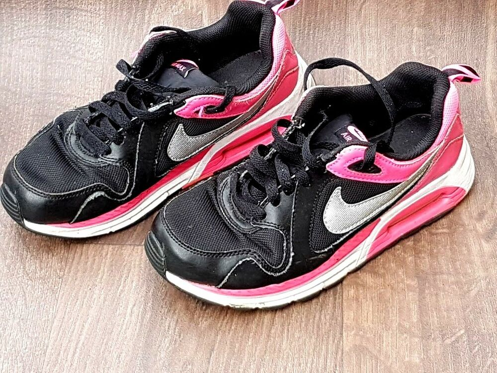 Details about Nike Air Max 90 Trainer Womens Girls Black Grey   Pink UK  Size 5 Eu 38 ea6b97036