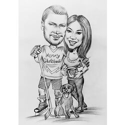 Kyпить Personalized Custom Made Cartoon Pencil Caricature Portrait From Your Photo  на еВаy.соm