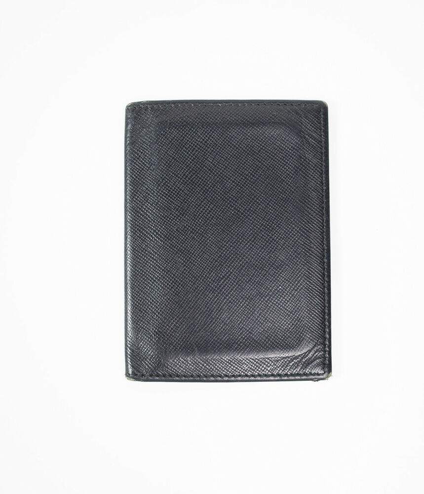 c4bbfb60fdd6 Details about Authentic Prada Saffiano Leather Bifold Card Holder Wallet