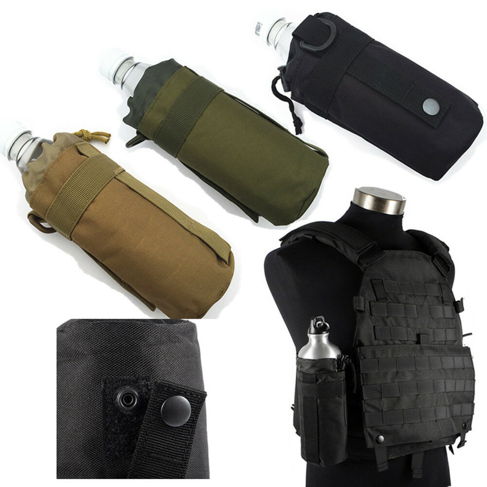 Outdoor Water Bottle Bag Military Kettle Pouch Holder Camping Cycling Hiking LH