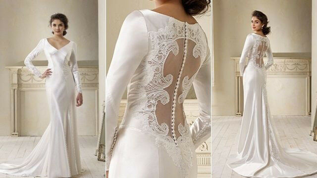 SPLENDID Twilight Bella Long-sleeves Wedding dress Bridal Gown Size ...