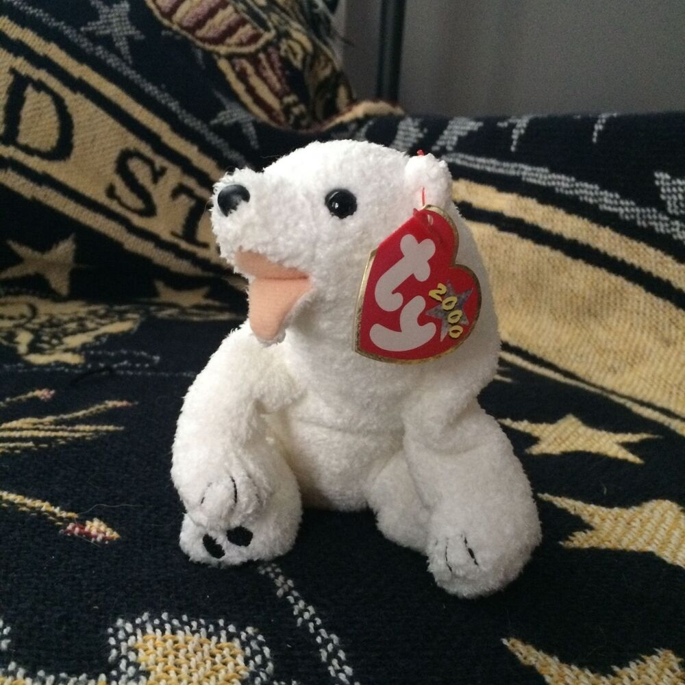 Details about Retired TY Beanie Baby 2000 Polar Bear