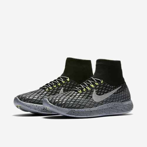 separation shoes 95c48 fadb2 Details about NIKE LUNAREPIC FLYKNIT SHIELD MEN S RUNNING SHOES 849664-001  BLACK SILVER