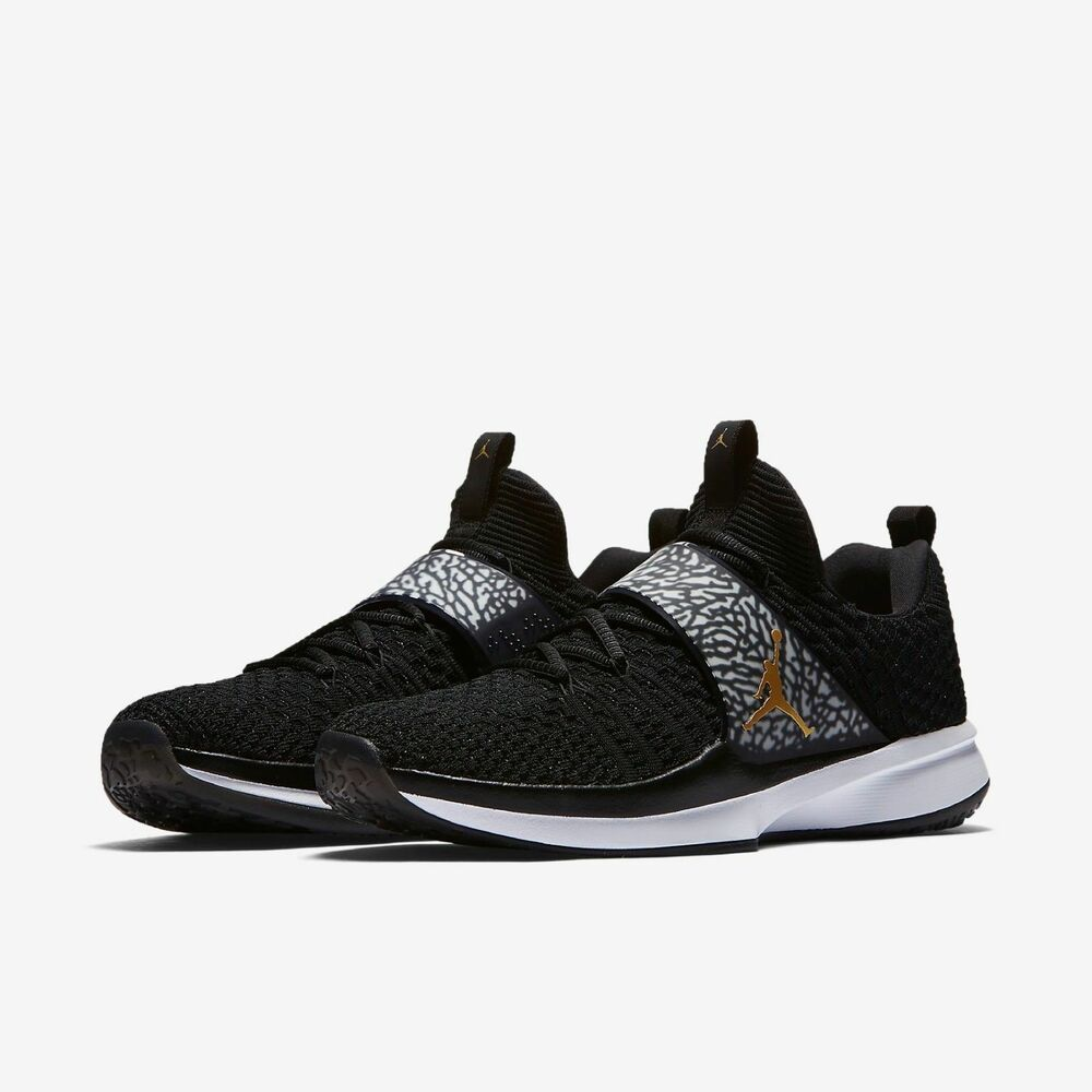 new product f7e74 a9eb9 Details about NIKE AIR JORDAN TRAINER 2 FLYKNIT MEN S SHOES  SIZE 11   921210-021 BLACK GOLD