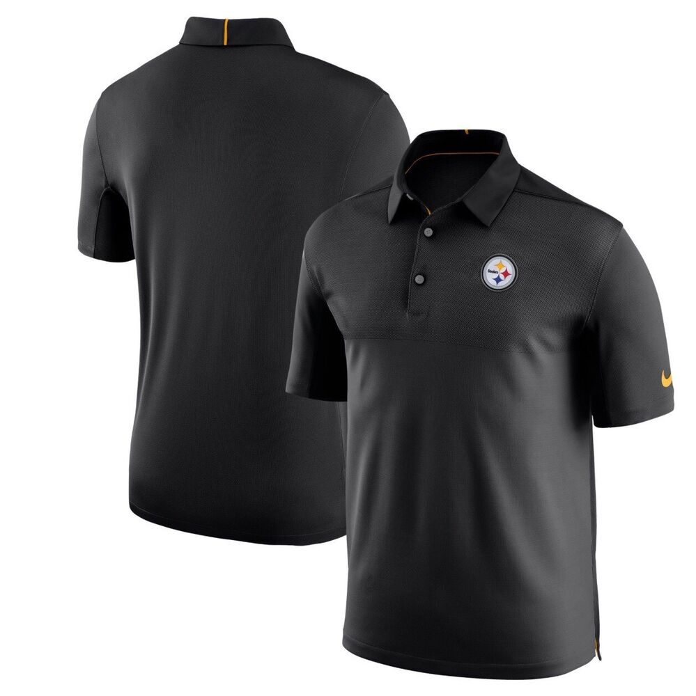 Details about Pittsburgh Steelers Nike Dri-Fit NFL Coaches Elite Sideline  2XL Golf Polo Shirt 255452b15