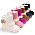 USA Baby Girl Boy Snow Boots Winter Half Boots Infant Kids New Soft Bottom Shoes