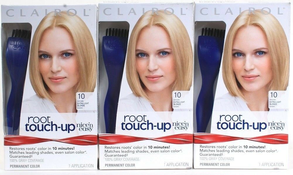 3 Clairol Nice N Easy Root Touch Up 10 Extra Light Blonde Just 10