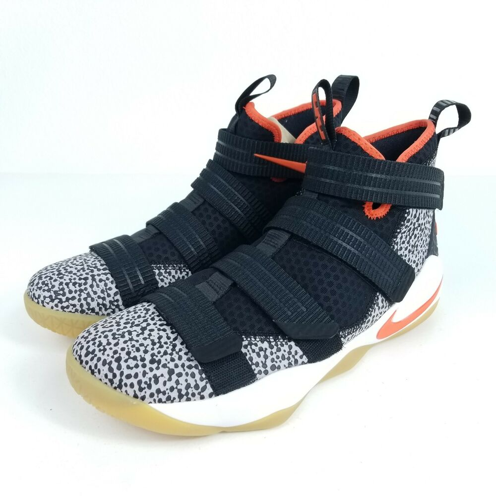 00dd4487bbfe Details about NIKE Lebron Soldier XI SFG Safari Mens 10.5 11 11.5 Shoes  Black White 897646 006