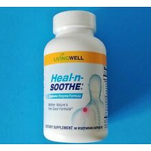 HEAL-N-SOOTHE Systemic Enzymes By LIVINGWELL. 90 Capsules Reduces Inflammation