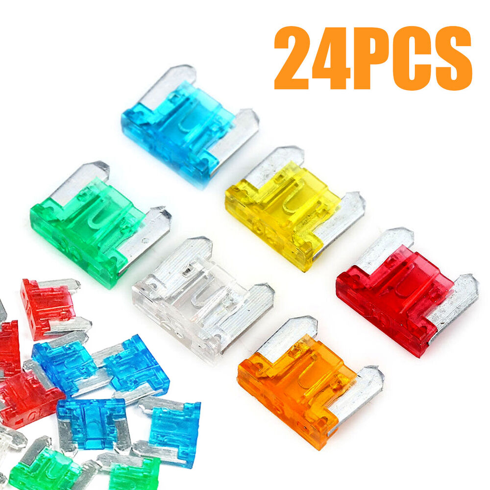 24pcs Micro Mini Blade Fuses Assorted Kit Car Auto Truck Suv Low Profile 5
