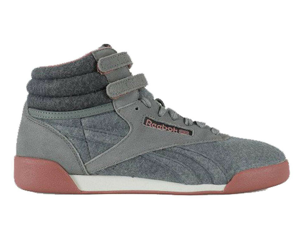 c9f216172290 Details about Reebok FREESTYLE HI SNEAKER Grey Suede Reebok Classic CN3362  NEW