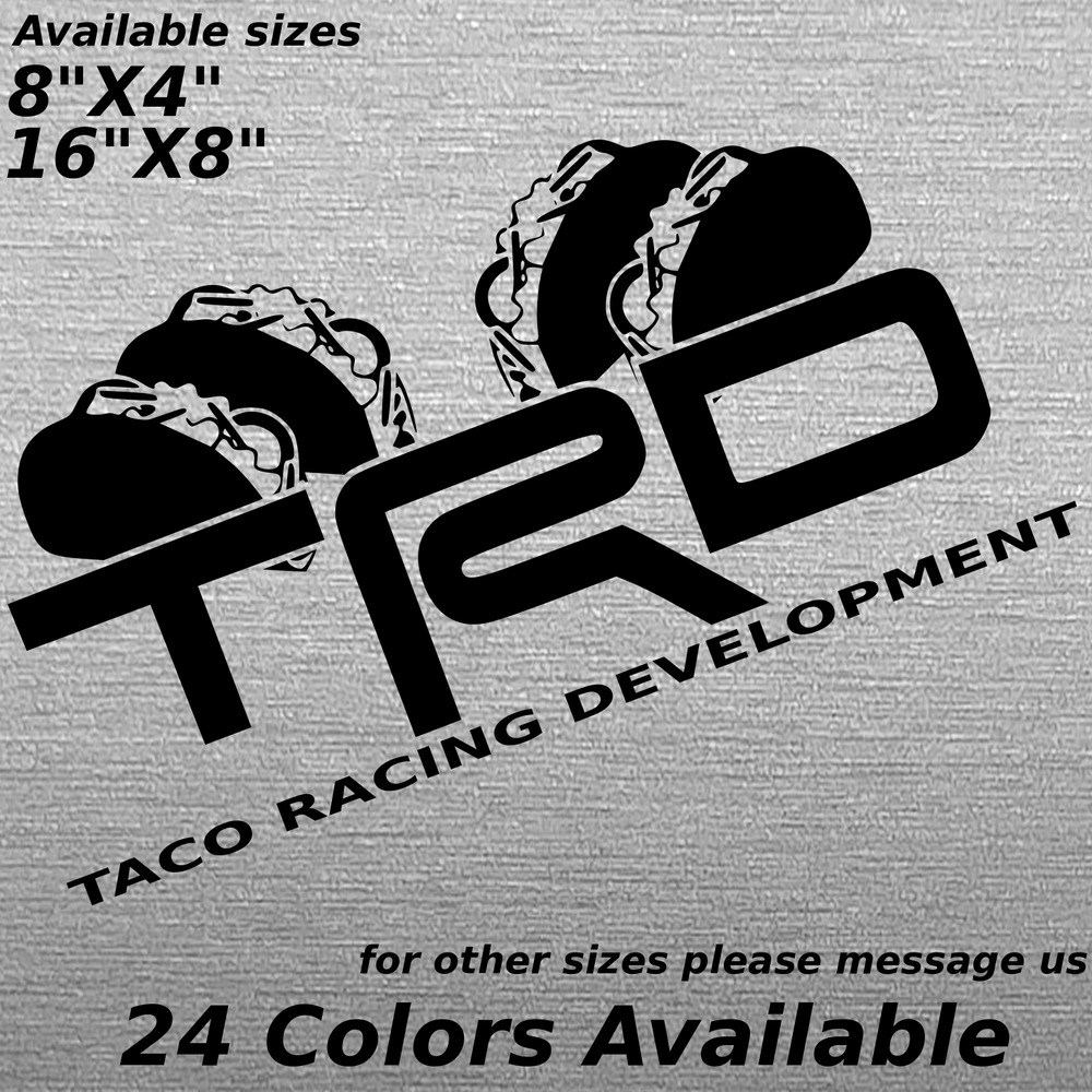 Details about trd toyota tacoma taco racing custom decal bedside window glass body sticker